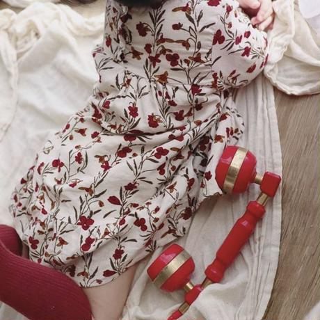 レトロ花柄ワンピース(611)