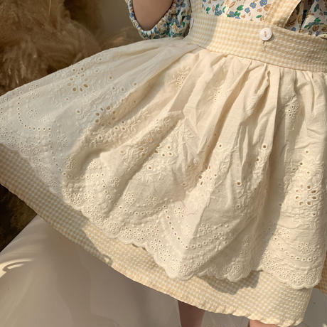 サスペンダーレースエプロン付スカート(1589)