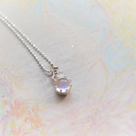 Milk Crown Necklace -Royal Blue Moonstone/cabos