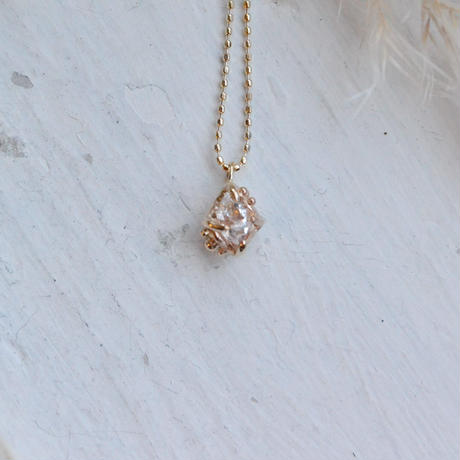 Only One!金の滴ふるふるハーキマーダイヤモンドネックレス-8-/K10YG