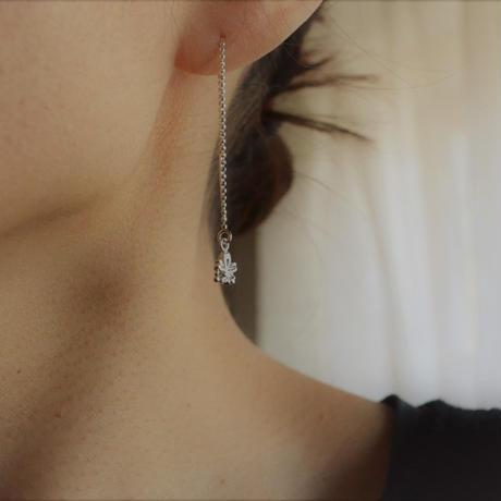 銀の滴ふるふる-水桜- チェーンピアス /SV925