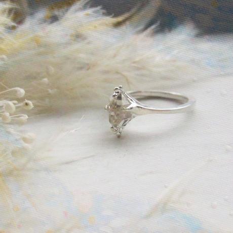 Only One!銀の滴ふるふるハーキマーダイヤモンドリング-6-/SV925