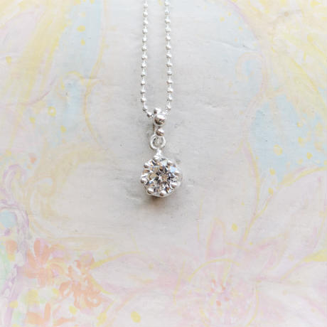 Milk Crown Necklace -Cubic Zirconia-