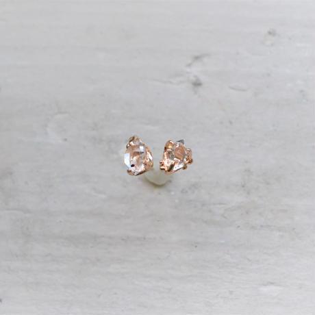Only One!Herkimer Diamond K10YG スタッドピアス-8-