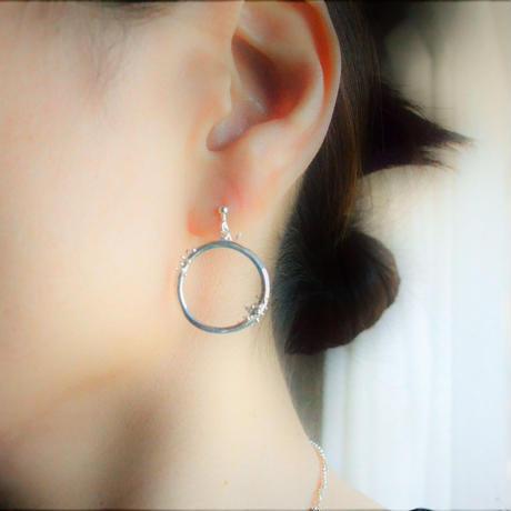 Water  Wreath -水のリース-Earring