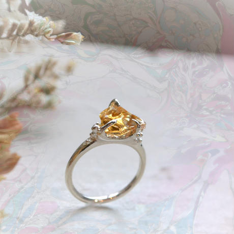 Semi Only One!GemStone Ring -Citrine/88-