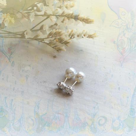 銀の滴ふるふるピアス-22-/SV925/2WAYパールキャッチ付