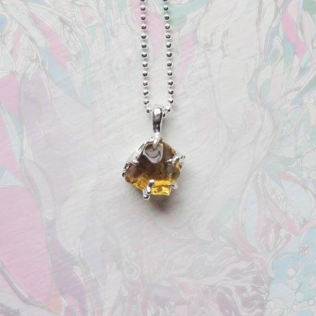 New Only One!gi銀の滴ふるふるGemStone Necklace -Citrine/8-