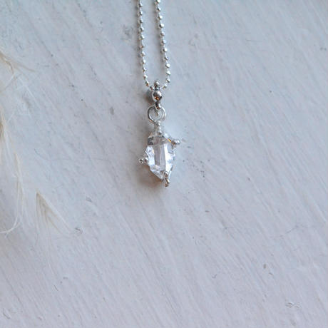 Only One!銀の滴ふるふるハーキマーダイヤモンドネックレス-14-Unisex