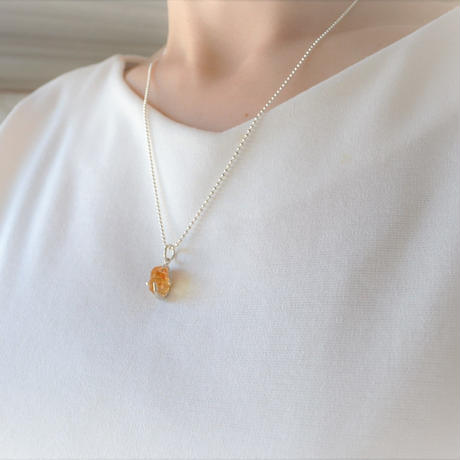Semi Only One!GemStone Necklace  -Citrine/8-