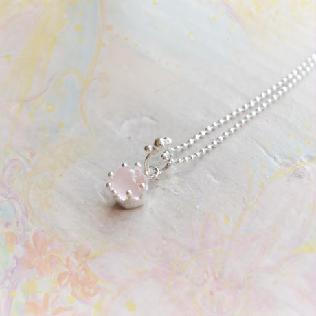 Milk Crown Necklace -Rose-quartz/cabos-