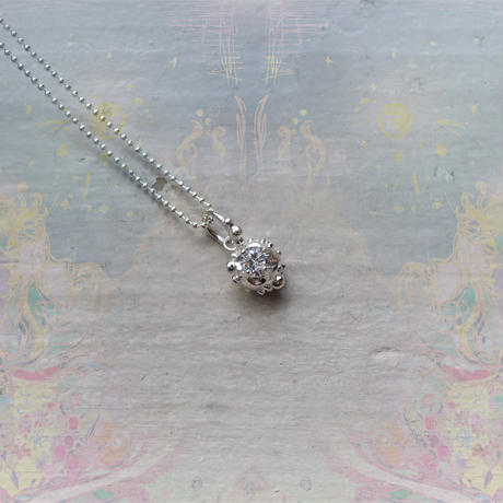 銀の滴ふるふるネックレス-光の滴-