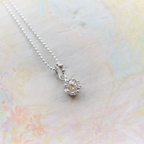 Milk Crown Necklace -Cubic Zirconia-【受注後制作】