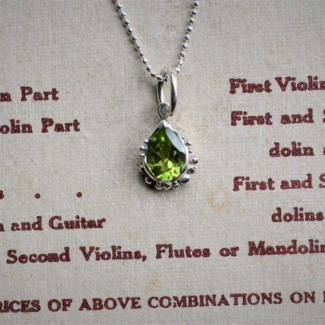 Only One! Tear Jewels /Peridot Necklace -太陽の涙-