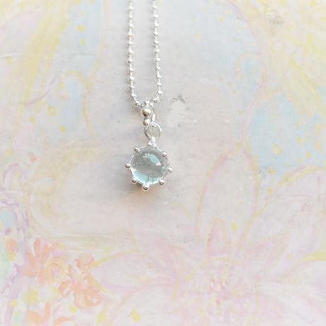 Milk Crown Necklace -Aqamarine/Caobs -