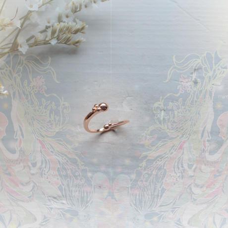 金の滴ふるふる-水の宇宙-フリーサイズリング/  K10PG
