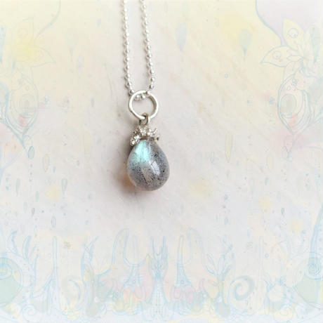 Tear Drop Necklace Labradorite6.5×8mm