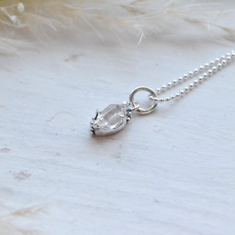 Only One!銀の滴ふるふるハーキマーダイヤモンドネックレス-7-Unisex