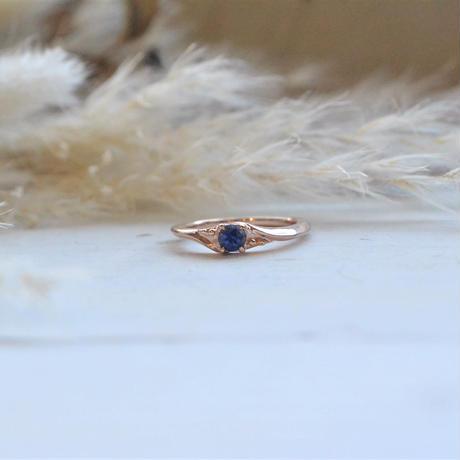 銀の滴ふるふる Only One Sapphire  Ring -天使の滴-