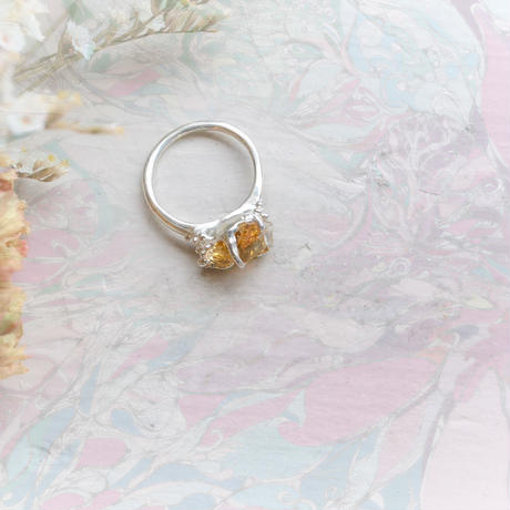 New Only One!gi銀の滴ふるふるGemStone Ring -Citrine/88-
