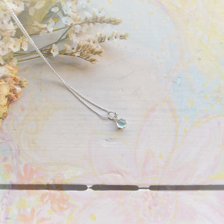 Milk Crown Necklace -Aqamarine/Caobs -[入荷未定]