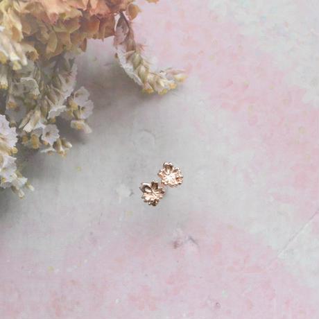 金の滴ふるふる-水桜- ピアス /K10PG