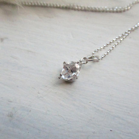 Only One!銀の滴ふるふるハーキマーダイヤモンドネックレス-8-/B-type