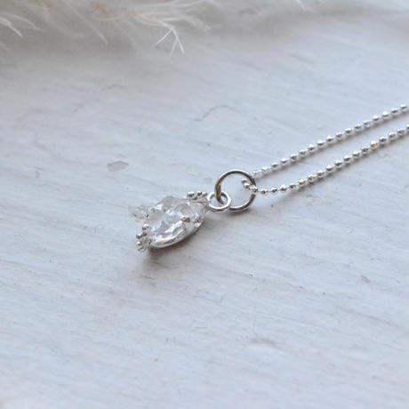 Only One!銀の滴ふるふるハーキマーダイヤモンドネックレス-6-