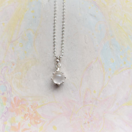 Milk Crown Necklace -moonStone-【受注後制作】