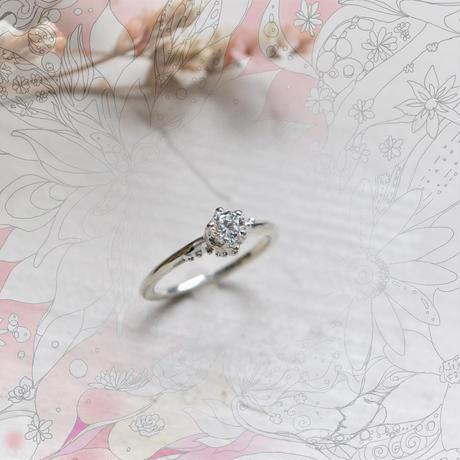 銀の滴ふるふるリング『光の滴』-愛とひとつ- /カジュアルエンゲージ
