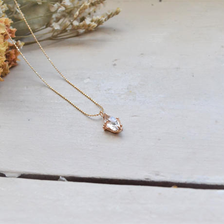 Only One!Herkimer Diamond K10YG Necklace-8-