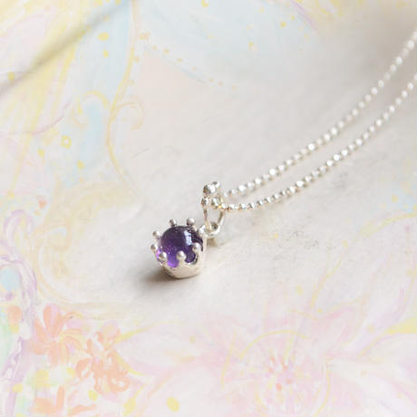 Milk Crown Necklace -Ametyst/Cabos-
