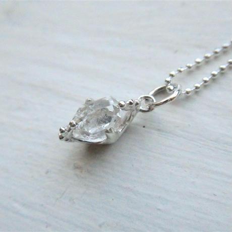 Only One!銀の滴ふるふるハーキマーダイヤモンドネックレス-8-/ SV925