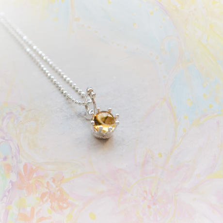 New!Milk Crown Necklace -Citrine Topaz/Cabos-