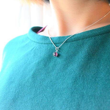 Milk Crown Necklace -RhodoriteGarnet/Cabos-