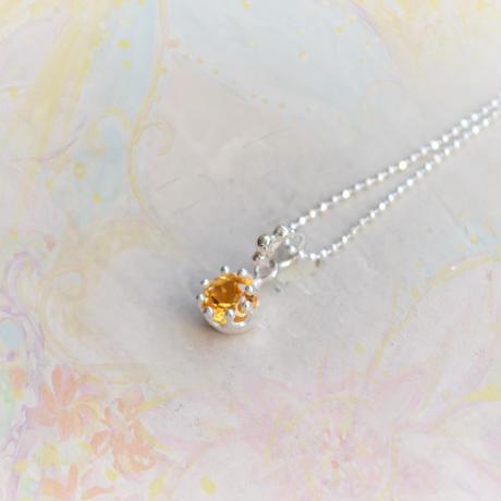 Milk Crown Necklace -Citrine Topaz/Cut-