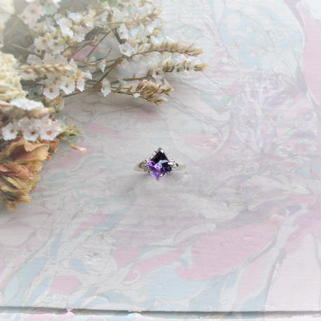 Semi Only One! GemStone Ring  -Ametyst/888-