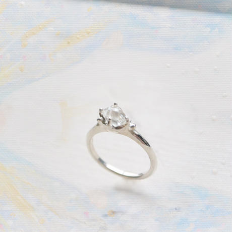 Only One!Water spiritual ring-8-/Herkimer Diamond SV925