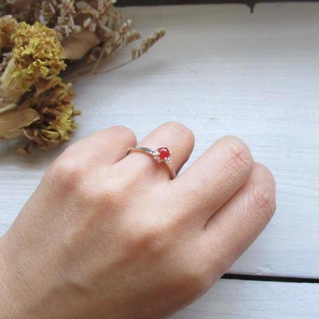 Ring-愛とひとつ-Clown Type/moon stone,Carnerian,GreenAgate