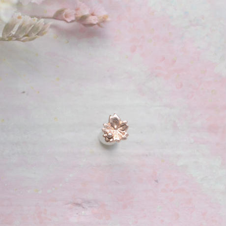 金の滴ふるふる-水桜- 一粒ピアス/K10PG