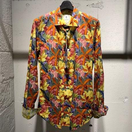 【GANESH(ガネーシュ)】フラワープリントシャツ マルチカラー