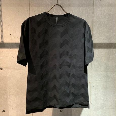 【Custom Culture】リンクスBIGヘリンボーン Tシャツ ブラック