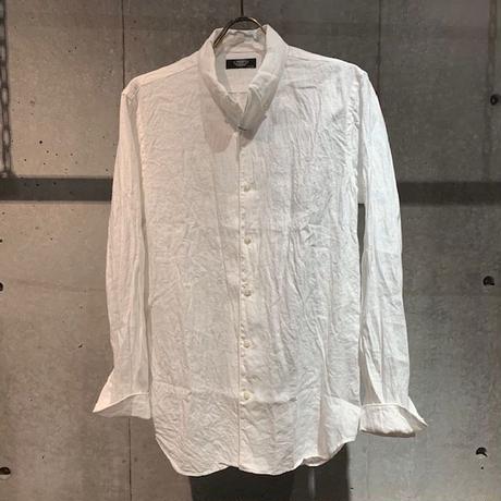 【PAZZO】リネン長袖シャツ ホワイト