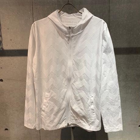 【Custom Culture】リンクスBIGヘリンボーンZIPパーカー ホワイト