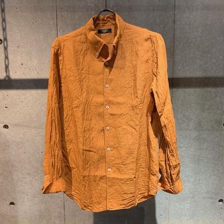 【PAZZO】リネン長袖シャツ オレンジ