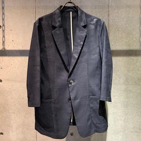【Custom Culture】カモフラージュ七分袖ジャケット ネイビー