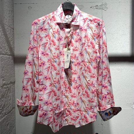 【GANESH(ガネーシュ)】パターンデザインシャツ ピンク系