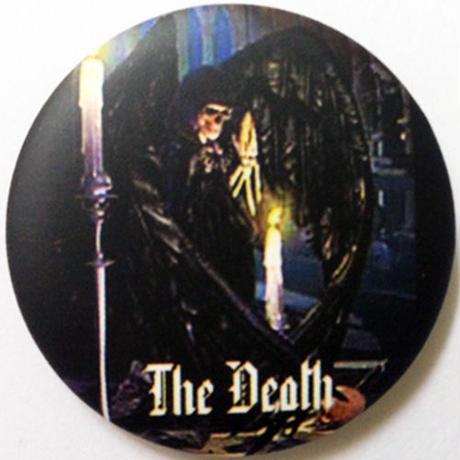 死神とロウソクの缶バッチ