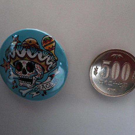メキシカンスカル缶バッチ(オイルショックデザインズ)