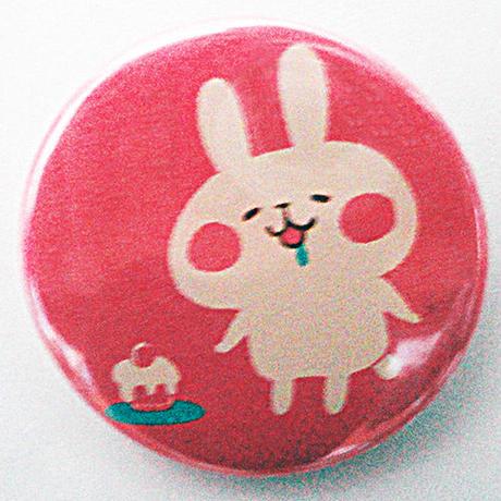 うさぎとケーキ缶バッチ(カナヘイの小動物たち)